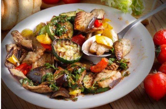 Parrillada de verduras al horno