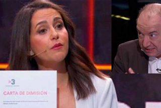 Inés Arrimadas exige la dimisión al director 'indepe' de TV3 en el mismo debate que él modera