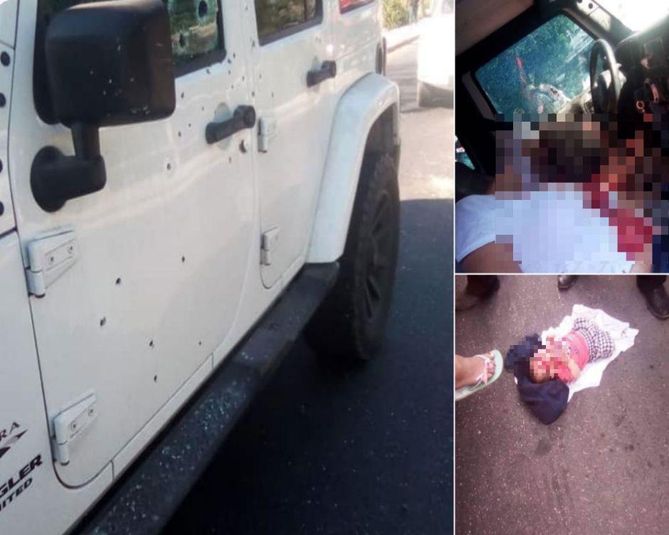 Vídeo: Sicarios asesinan a dos mujeres pero la lluvía de balas no toca a su bebé