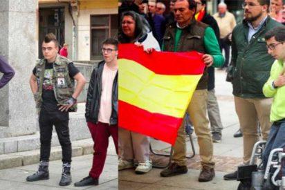 """Vox comparte esta foto y se hace viral al instante: la """"España viva"""" frente a los violentos"""