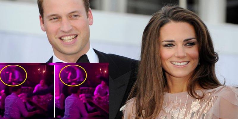 El vídeo que demuestra que, un muy pasado de rosca William, le puso los cuernos a Kate Middleton