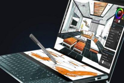ASUS presenta esta extravagante laptop con dos pantallas de alta resolución