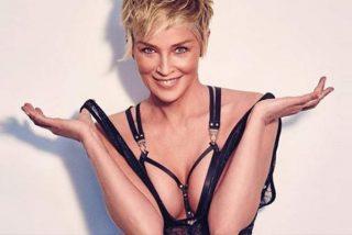 Sharon Stone posa a los 61 en topless después de que en Hollywood le dijeran que ya no era 'follable'