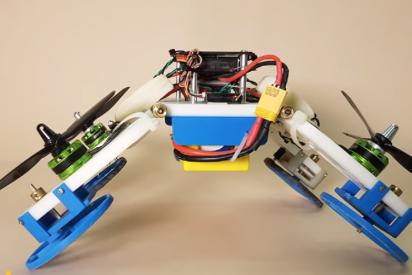 Un robot que vuela, conduce y se estruja con los mismos motores