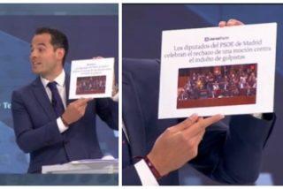 Aguado le recuerda a 'Cromañón' Gabilondo que apoyó a los golpistas catalanes y la 'borroka' Serra justifica el escrache a Villacís