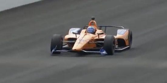 Brutal accidente de Fernando Alonso en el circuito de Indianápolis
