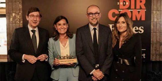 Amalia Blanco, directora de Comunicación de Bankia, ganadora del Premio Forbes Best Dircom 2018