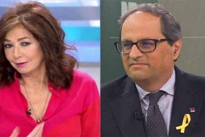 "Ana Rosa Quintana ningunea al xenófobo Quim Torra: ""No existe"""