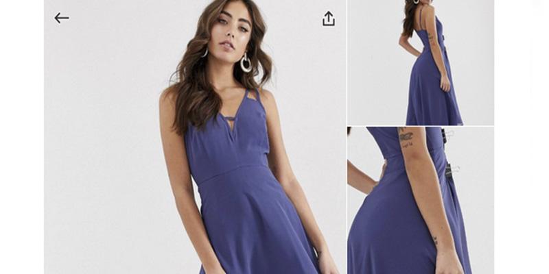 ASOS truca este vestido para entallarlo más y las redes se cabrean como monas