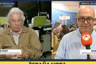 Ración de palos de Javier Nart a Gonzalo Boye para recibir al 'no-eurodiputado' Carles Puigdemont