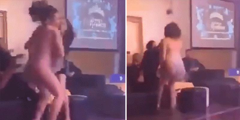 Bailarina hace este baile sexy a un hombre y su novia cabreada responde así…