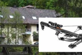 Encuentran tres cadáveres acribillados con flechas de ballesta en una habitación de hotel en Baviera