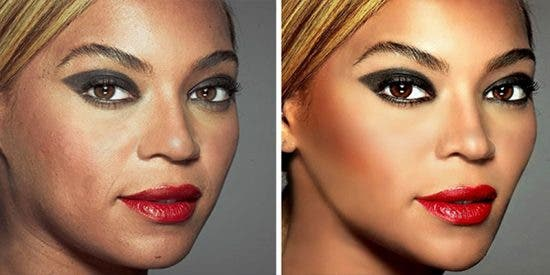 A Beyoncé se le va el ratón con el Photoshop