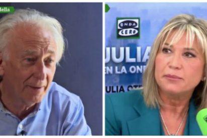 Albert Boadella entra en combustión por el doble juego de Julia Otero y le revienta su tertulia en Onda Cero