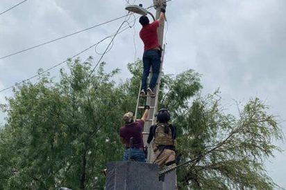 Los narcos mexicanos espían a la policía con cámaras ocultas en las lámparas de alumbrado público
