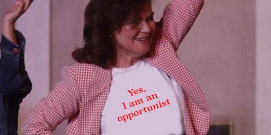 La 'académica' Carmen Calvo convierte Twitter en un gallinero revolucionado tras subir un mensaje plagado de erratas e incoherencia gramaticales