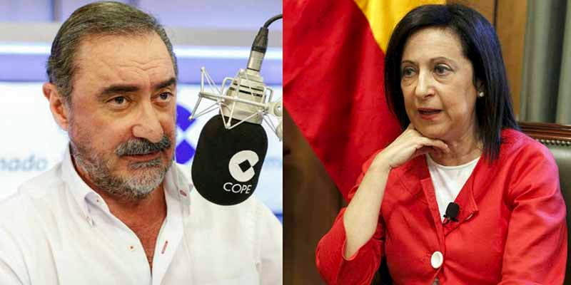 Carlos Herrera se cachondea del 'calentón' de la ministra Robles por la retirada de la fragata 'Méndez Núñez'
