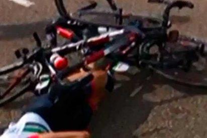 Impactantes imágenes de las piernas de un ciclista Español en el Giro de Italia 2019