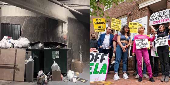 Comunistas y guarros (y no es redundancia): Así dejaron la embajada venezolana en EEUU los okupas amigos de Maduro