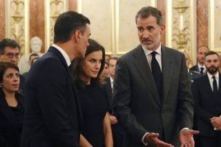 La cruda foto que quiere ocultar Moncloa de la bronca del Rey Felipe a Pedro S谩nchez