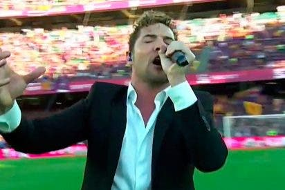 David Bisbal recibe una monumental pitada durante su actuación en la Final de la Copa del Rey