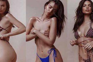 """Emily Ratajkowski muestra su """"sorpresa"""" al quedarse sin ropa interior"""