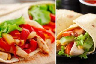Fajitas de pollo y verduras