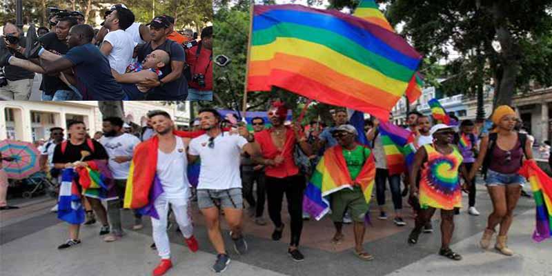 El régimen castrista reprime a palos una tradicional marcha gay en La Habana