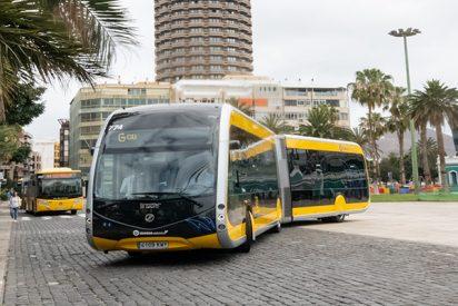 Ya circula por Las Palmas de Gran Canaria la primera guagua 100% eléctrica