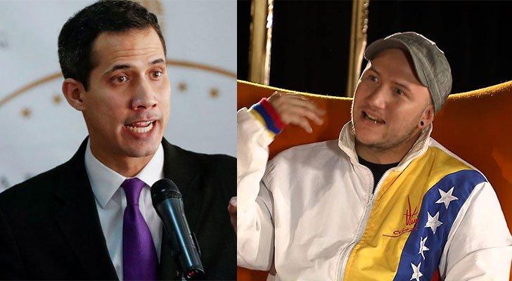 Vídeo: Juan Guaidó le calla la boca a periodista chavista que le acusó de ladrón