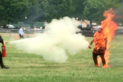 EEUU: Un hombre se prendió en fuego delante de la Casa Blanca