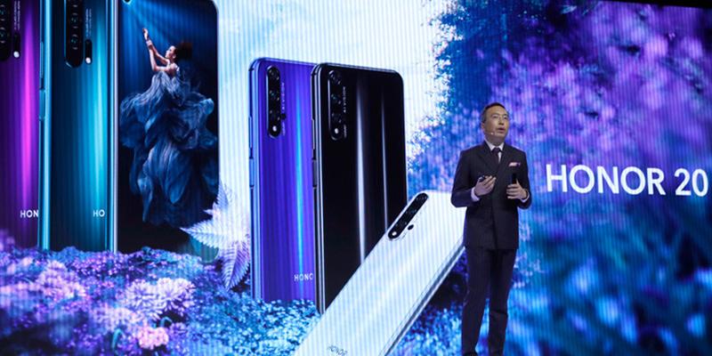 Huawei lanza sus nuevos teléfonos 'Honor' con cuatro cámaras en medio de la guerra con Google y EE.UU.