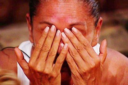 'Supervivientes': Isabel Pantoja, derrumbada, envía un mensaje a su madre
