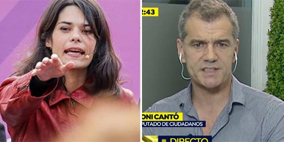 A la podemita 'grafitera de cajeros' le revienta que Toni Cantó no se sepa su nombre y le insulta groseramente