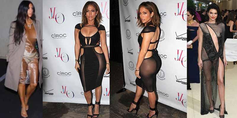 La veterana Jennifer López se pone un vestido transparente y deja K.O. a Kim Kardashian y Kylie Jenner