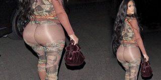 Los leggings transparentes de Kim Kadarshian que dejan a la vista su enorme y gelatinoso culo