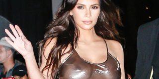 Kim Kardashian se pasea alegre y empitonada por Los Ángeles