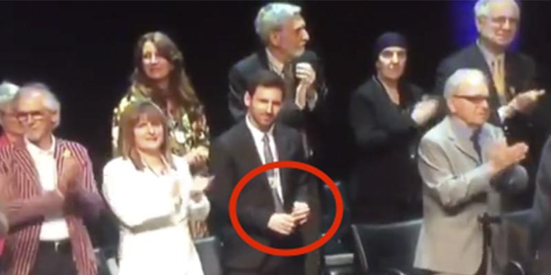 Gesto: Messi pasa de los 'indepes' mientras se aplaude a los golpistas catalanes presos