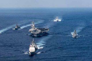India, EEUU, Australia y Japón realizan ejercicios navales para intimidar a China