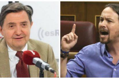 Losantos le amarga el domingo a Iglesias blandiendo el último chantaje de Sánchez a Podemos si no le apoya en su investidura
