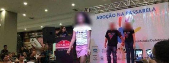 Polémica en Brasil: Organizan un desfile de menores sobre una pasarela para ser adoptados