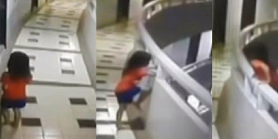 Esta niña sobrevive tras caer desde el piso 11 de un hotel