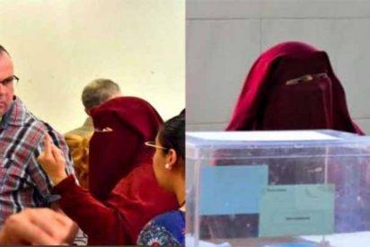 VOX impugna la mesa de un colegio de Ceuta donde la presidenta iba tapada con un niqab