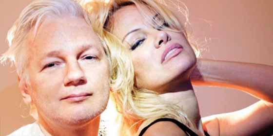 Pamela Anderson visita en prisión a Julian Assange y pide salvarle la vida
