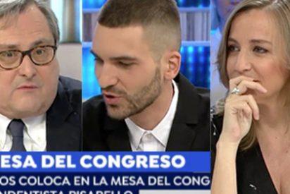 En Griso TV nos quieren colar que Pisarello en la mesa del Congreso no es un grosero 'indepe' que quitaba banderas de España