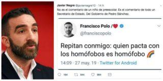 """¡De parvulario! Un secretario de Estado de Sánchez llama """"homófobos"""" a los de Vox y luego borra el tuit"""