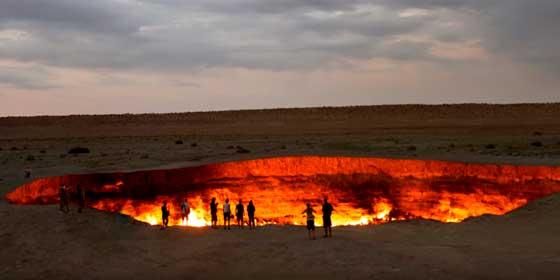 Turkmenistán: La 'Puerta del Infierno' de Darvaza