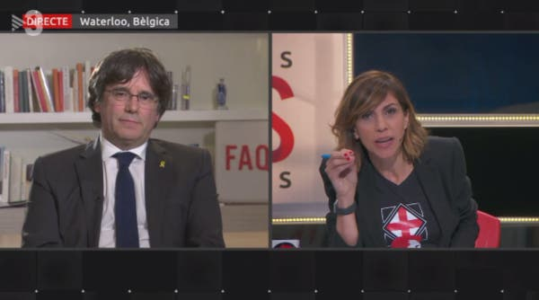Buenafuente acude al rescate del golpista Puigdemont en TV3 con una babosa entrevista para presionar a la Justicia