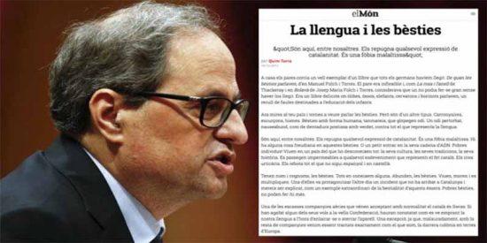 """Quim Torra: """"Los españoles son bestias carroñeras, víboras, hienas con una tara en el ADN"""""""