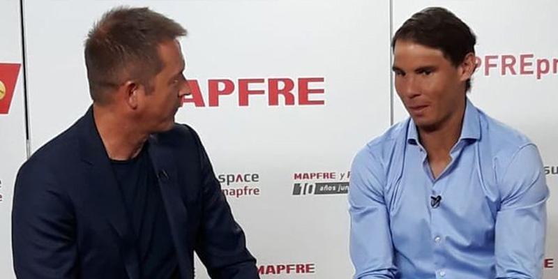 """Rafa Nadal, a Manu Carreño: """"Uno necesita adaptarse a los nuevos tiempos porque los competidores siempre están en continua evolución"""""""